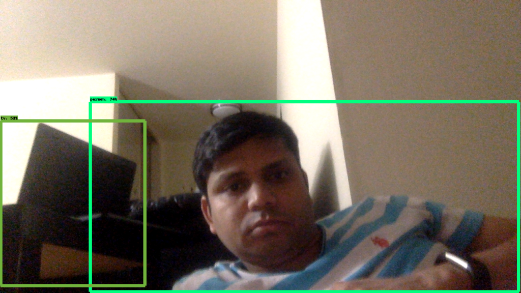 DAY 74-100 DAYS MLCODE: Live Object Detection using